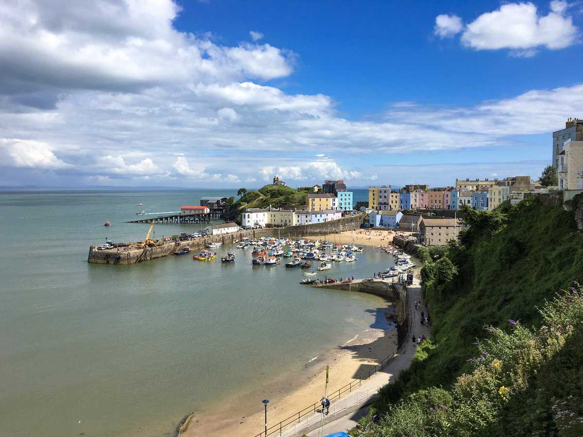 Tenby on a glorious summer