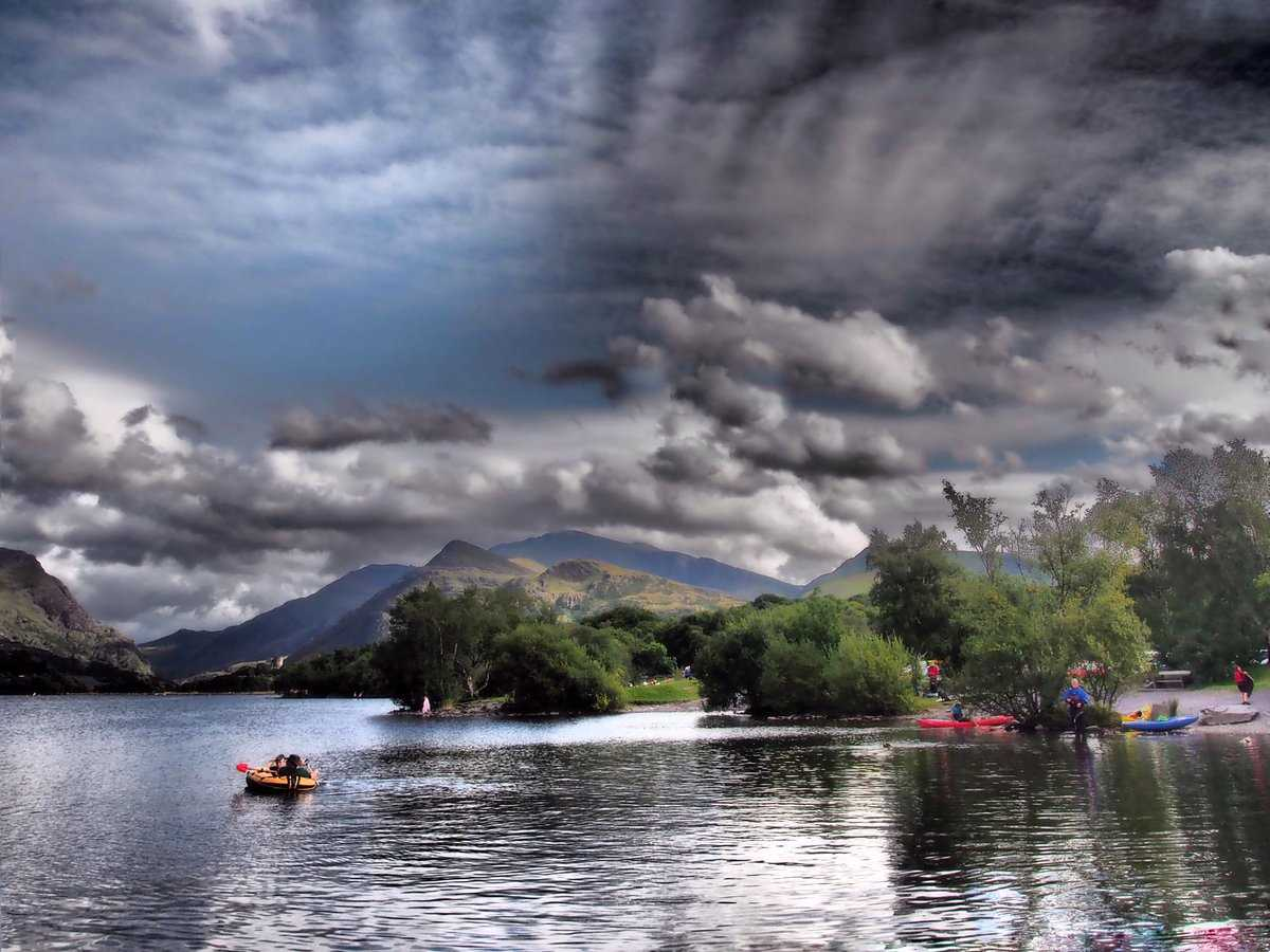 Lakeside in Snowdonia